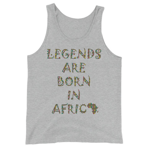 Legends Are Born in Africa Zulu Print Unisex  Tank Top