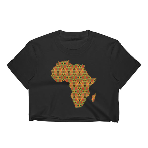 African Kente Print Women's Crop Top