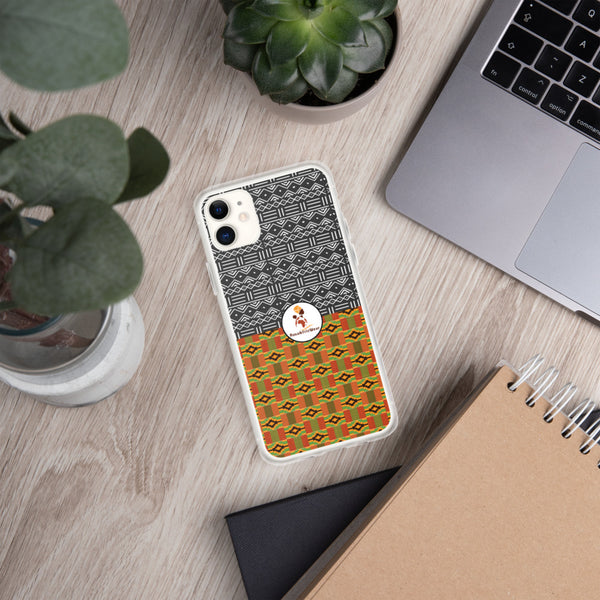 RuvaAfricWear Kente and Mud Cloth iPhone Case