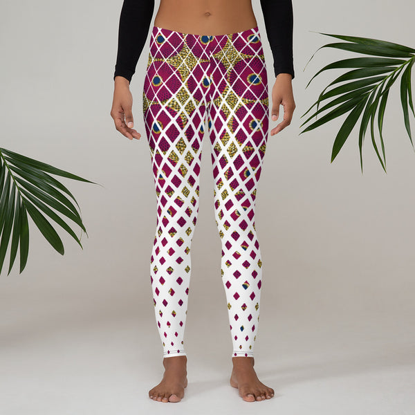 Ankara Square Scatter Leggings
