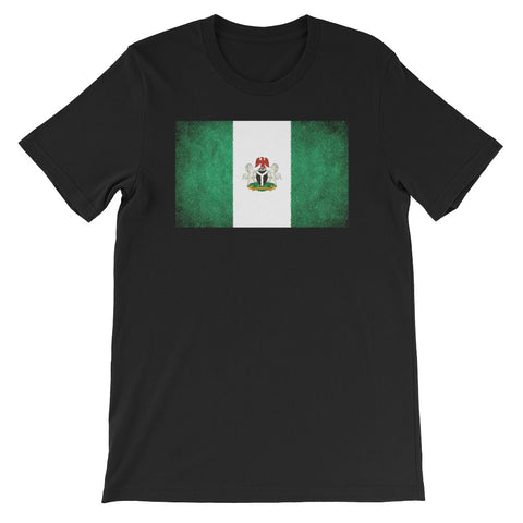 Nigerian Flag with Coat of Arms Short-Sleeve Unisex T-Shirt
