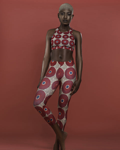 Ankara Circles Capri Leggings