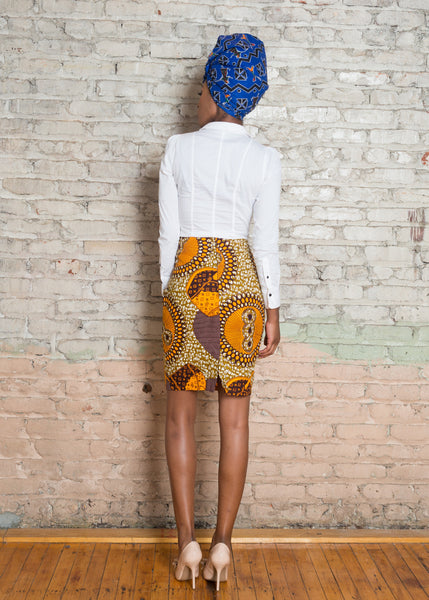 Ankara (African Print) Pencil Skirt