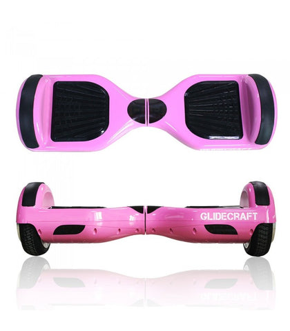 "GlideCraft X100 6.5"" Pink Hoverboard - Hover Board Stop - 1"