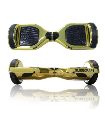 "GlideCraft X100 6.5"" Gold Chrome Hoverboard - Hover Board Stop - 1"