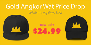 Gold Angkor Wat Hats Price Drop Now Only $24.99
