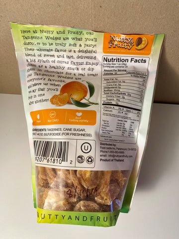 nutty and fruity tangerine wedges nutrition facts