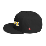 Wool Blend Snapback KhSA Gold and White