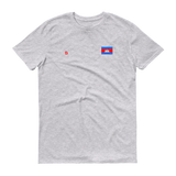 Lightweight Fashion T-Shirt Cambodian/Khmer Flag and Khmoping Logo