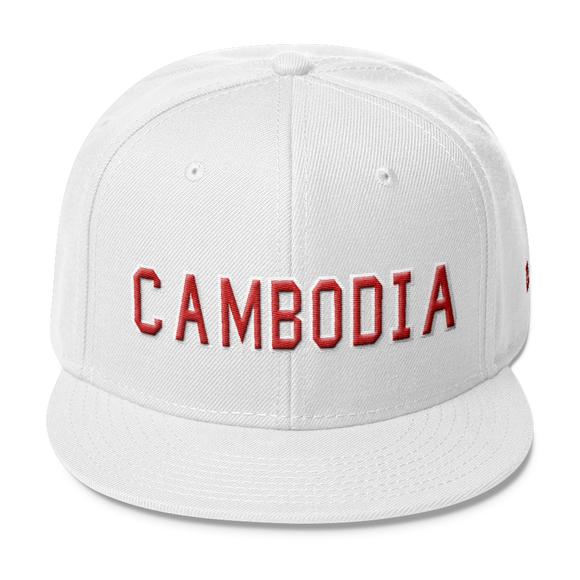 Wool Blend Snapback CAMBODIA All Cap