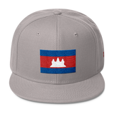 Cambodia Khmer Flag Snapback Hat Cap High Quality Durable Sleek Stylish