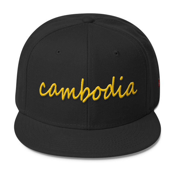 Wool Blend Snapback Gold cambodia