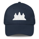 Classic Dad Hat/Cap White Angkor Wat - Khmer/Cambodia
