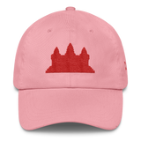 Classic Dad Hat/Cap Red Angkor Wat - Khmer / Cambodia
