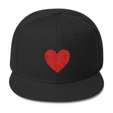 Red Heart Love Snapback Cap Hat