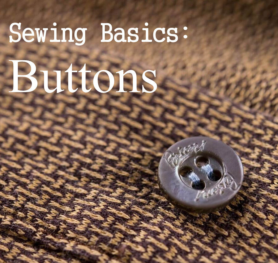 Sewing Basics: How to sew a button, 4 SIMPLE steps!