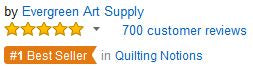5 star reviews - Evergreen Art Supply Quilting Arts and Craft Amazon