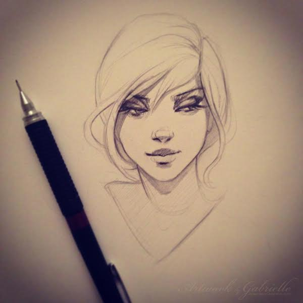 Artwork by Gabrielle Portrait Sketch Art