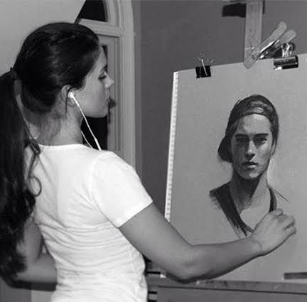 Artwork by Gabrielle in Portrait in Progress