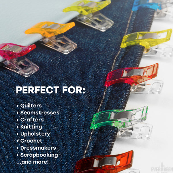 Craft Clips, Super 100 Pack - 75+25 Bonus Jumbo Clips - Vibrant Colors, All Purpose Craft Clips - Work Wonders as Sewing Clips, Quilting Clips & More