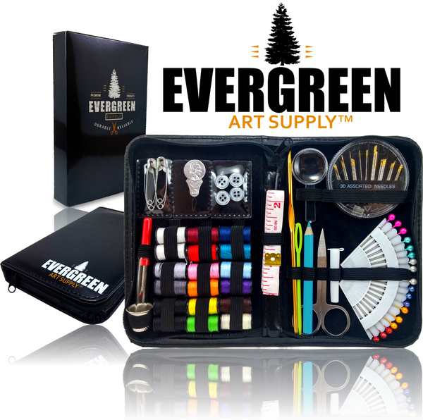 Evergreen Art Supply Ultimate Sewing Kit with Gift Box