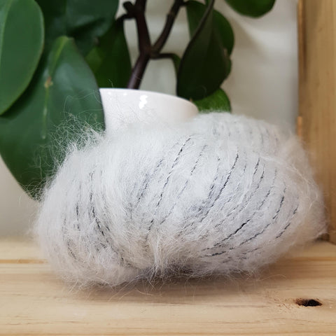 Yarn | Touch - 12 ply Mohair Merino - Whitebait