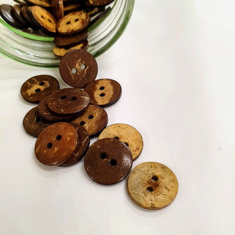 Buttons - Coconut - Small - 15mm