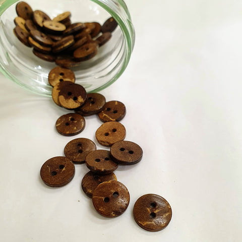 Buttons - Coconut - Tiny - 11.5mm