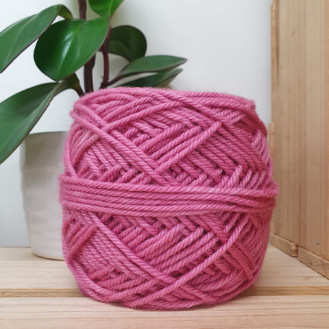 Yarn | Let Them Knit - 14ply Merino - Rose