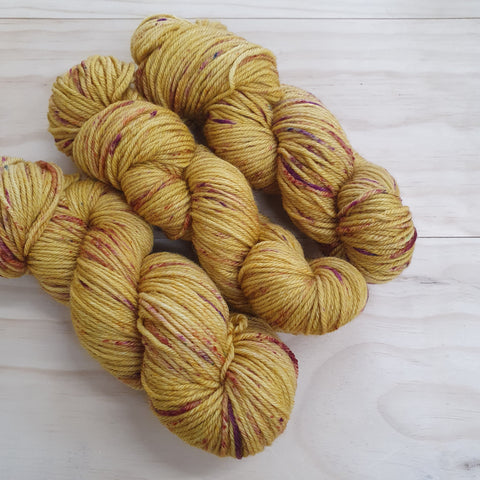 Yarn | Let Them Knit - 8ply Corriedale - Gold Rush