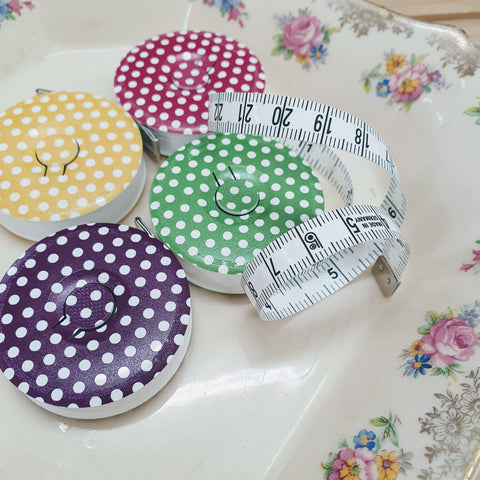 Bohin Retractable Tape Measure - Dots