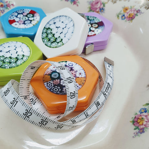 Bohin Retractable Tape Measure - Floral Hexies