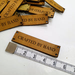Leather Labels // CRAFTED BY HAND