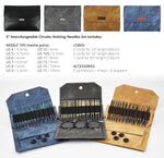 Lykke | Driftwood Interchangeable Needle Set - 5 inch - Grey Denim
