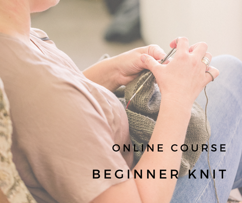 Online Course // FREE Beginner Knit Course