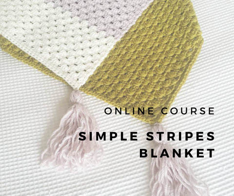 Online Course // Simple Stripes Blanket