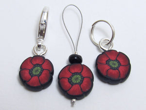 Poppy Stitch Marker Set