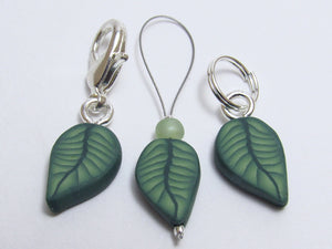 Leaf Stitch Marker Set