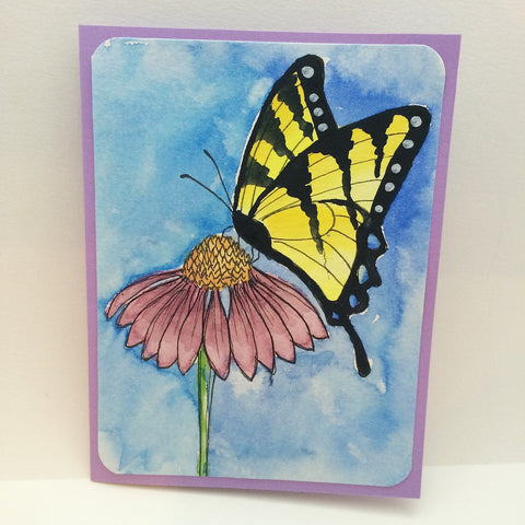 Floral Butterfly Watercolor Greeting Card