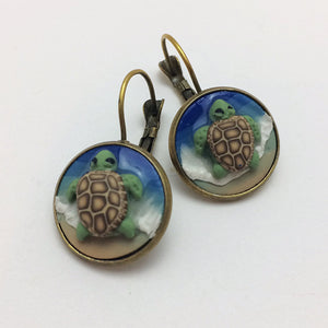 Sea Turtle Beach Earrings