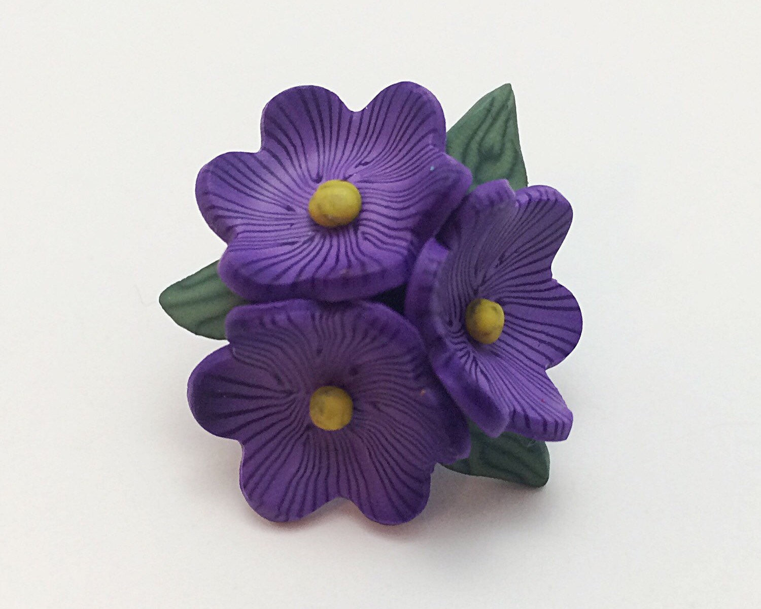 Violet Flower Brooch