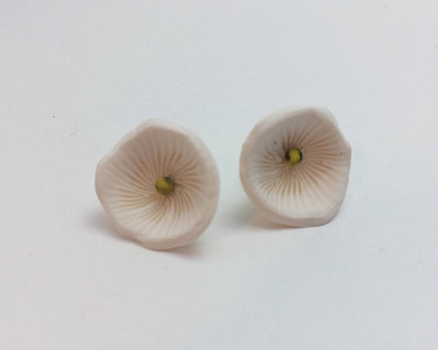 Morning Glory Flower Stud Earrings