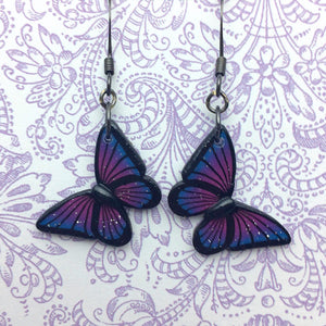 Galaxy Butterfly Dangle Earrings
