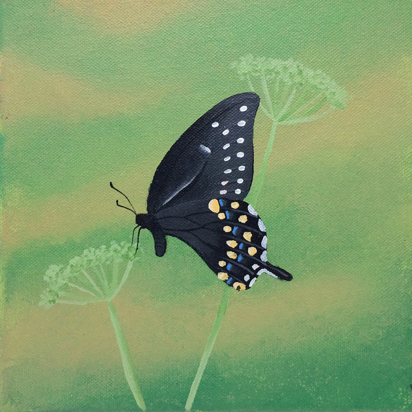 Black Swallowtail Butterfly Painting