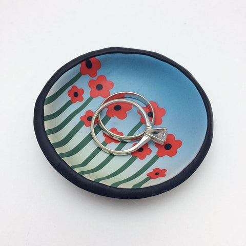 Poppy Field Ring Dish