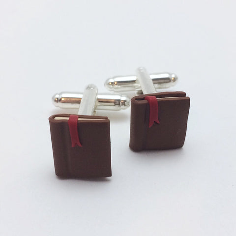 Brown Book Cufflinks