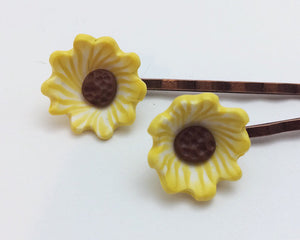 Sunflower Bobby Pins