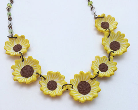 Sunflower Statement Necklace