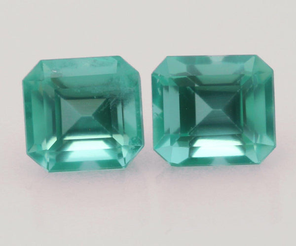 Emerald cut emeralds 2.33ct
