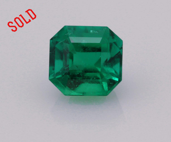 Emerald cut emerald 0.73ct